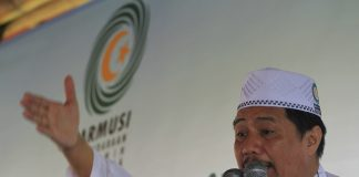 Ketua Umum PP Parmusi Usamah Hisyam saat membuka pelatihan Dai Desa Madani