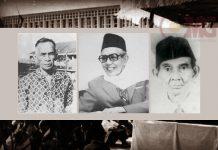 SM. Kartosuwiryo, M. Natsir, dan KH. Muslich.