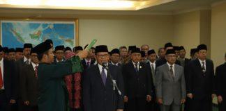 Komarudin Hidayat saat dilantik menjadi Rektor UIII masa bakti 2019-2024, Kamis (13/6/2019).