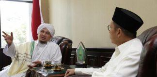 Habib Ahmad bin Jindan melakukan sowan ke Kantor Kemenag.