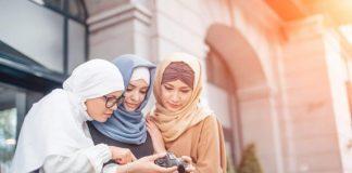 Ilustrasi generasi milenial muslim.