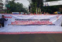 FPMSI saat menggelar Aksi Lawan Hoax di Medsos, Minggu (23/6/2019).