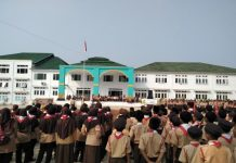Seribu pelajar Kabupaten Serang ikuti HUT Pramuka ke-58, di Tunjung Teja, Serang-Banten, Rabu (14/8/2019).