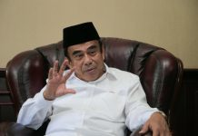 Jenderal (Purn) Fachrul Razi akui Misi Kemenag sama denga para Kiai NU dan Muhammadiyah. Foto: Kemenag.